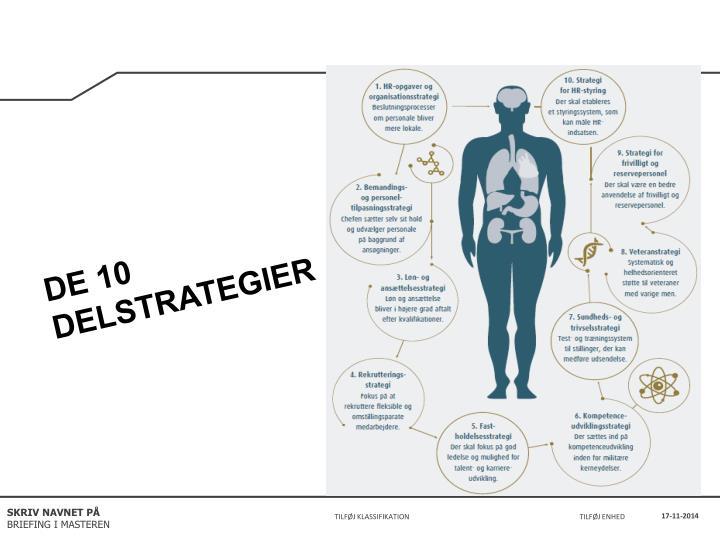 DE 10 DELSTRATEGIER
