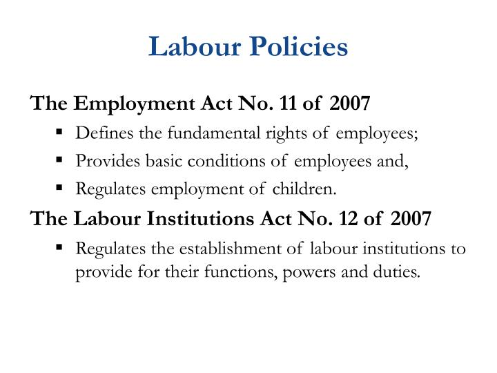 Labour Policies