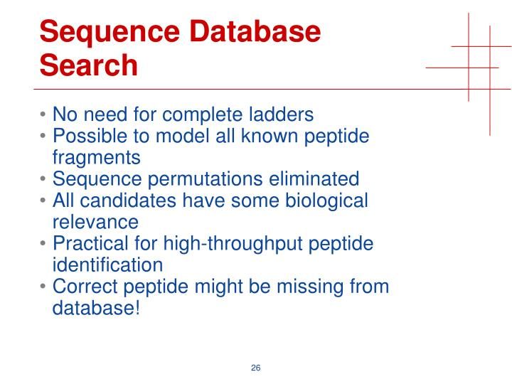 Sequence Database Search