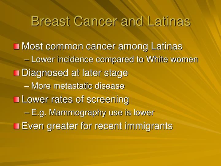 Breast Cancer and Latinas