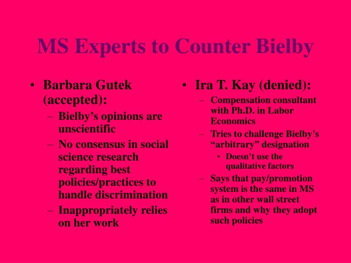 Barbara Gutek (accepted):