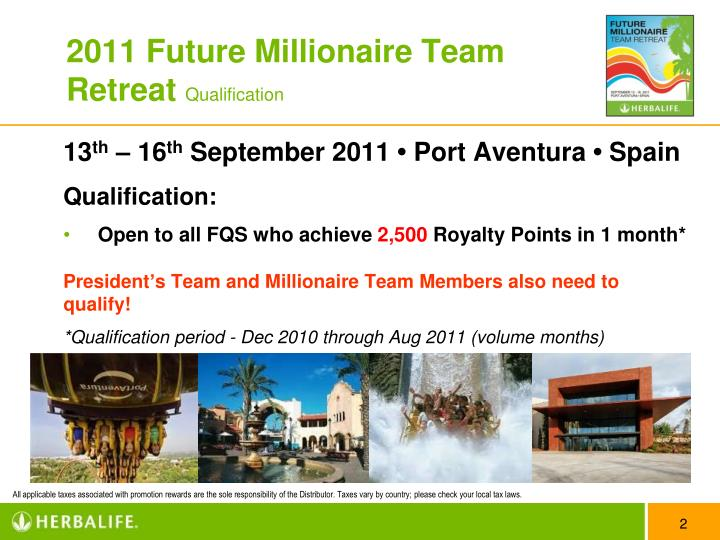 2011 future millionaire team retreat qualification