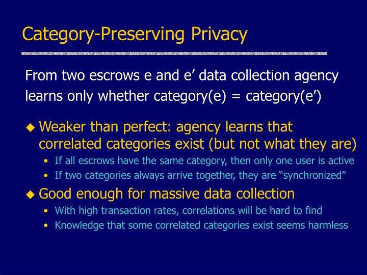 Category-Preserving Privacy