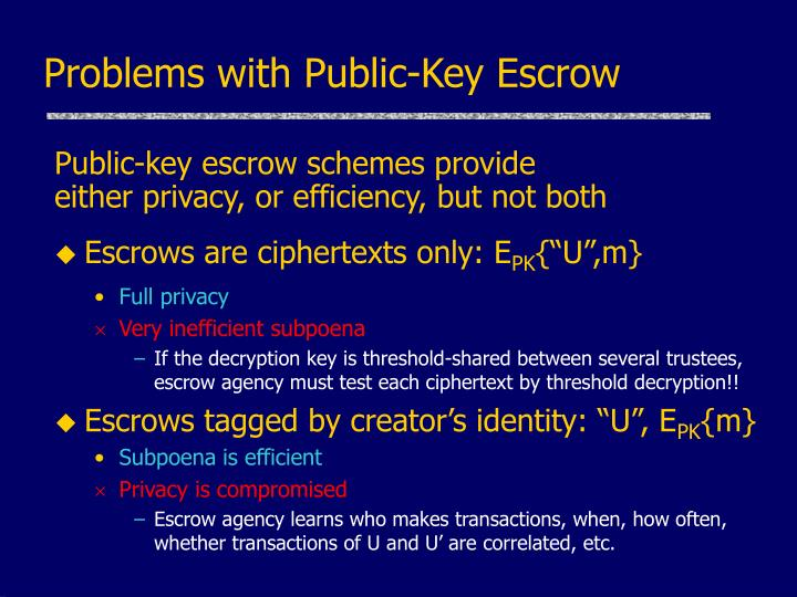 Problems with Public-Key Escrow
