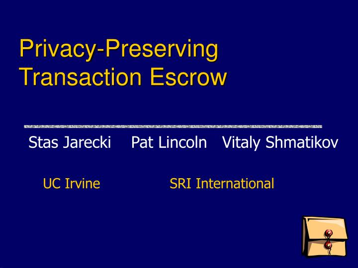 Privacy-Preserving