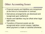 other accounting issues