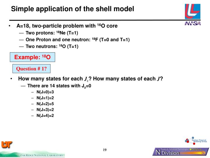 Simple application of the shell model