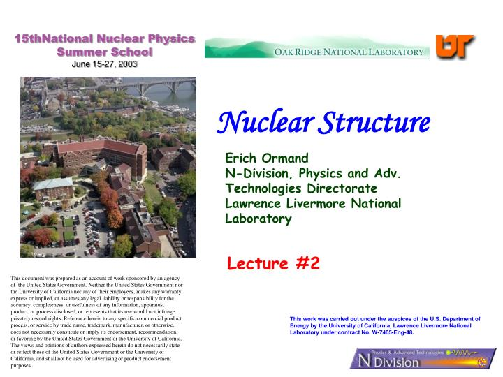 15thNational Nuclear Physics