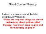 short course therapy2