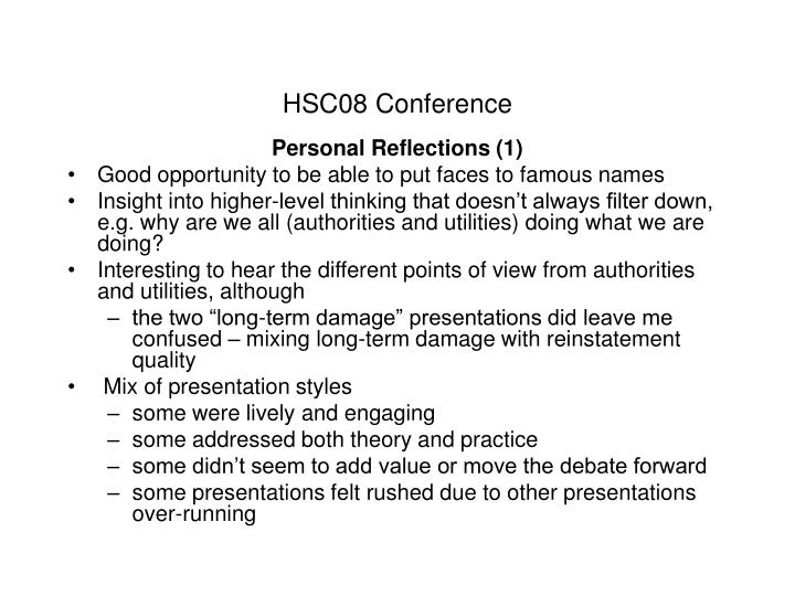 HSC08 Conference