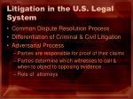 litigation in the u s legal system