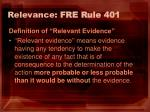 relevance fre rule 401