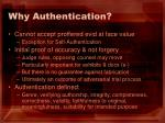 why authentication