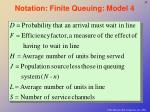 notation finite queuing model 4