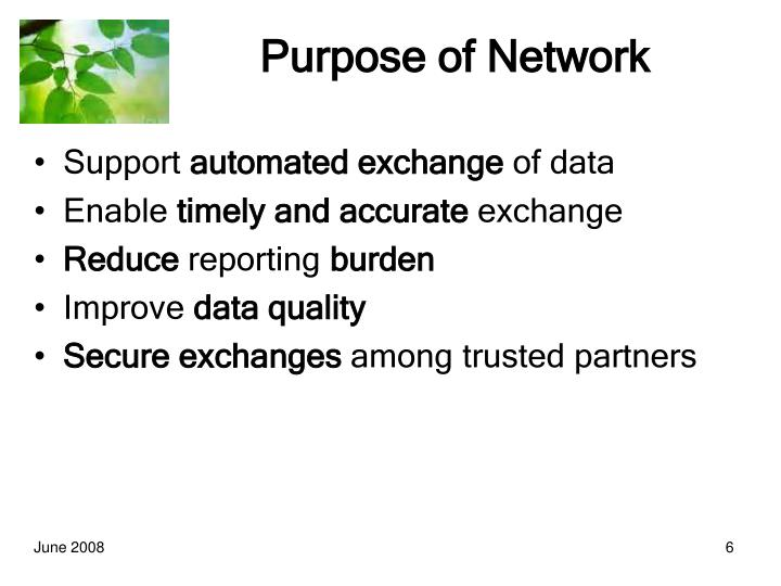 Purpose of Network