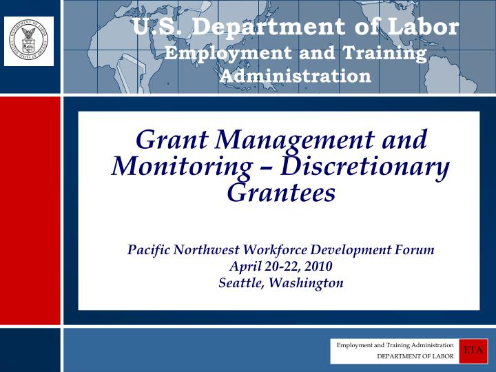 U s department of labor employment and training administration