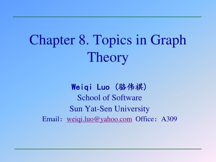 chapter 8 topics in graph theory n.