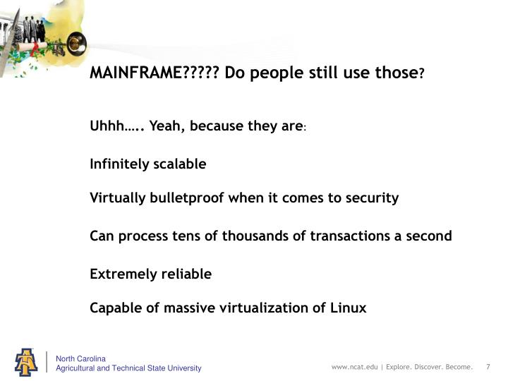 MAINFRAME????? Do people still use those