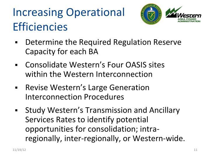 Increasing Operational