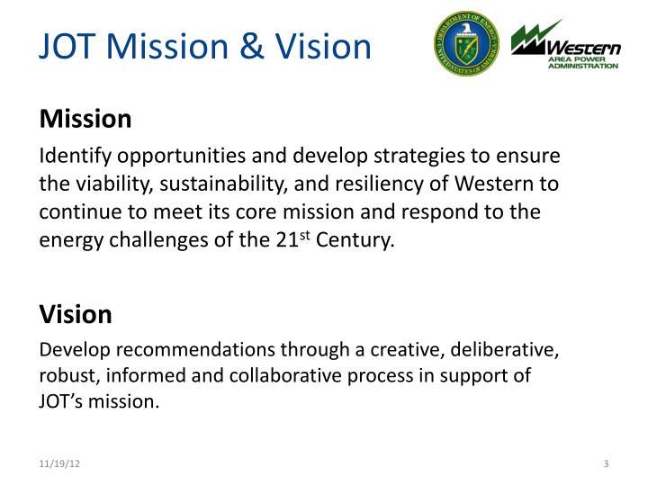 Jot mission vision