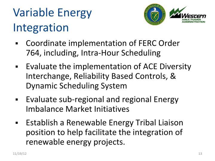 Variable Energy