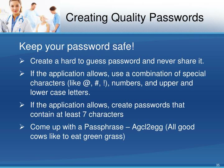 Creating Quality Passwords