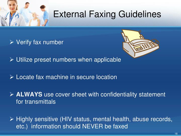 External Faxing Guidelines