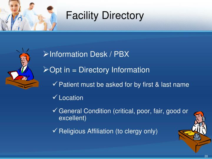 Facility Directory