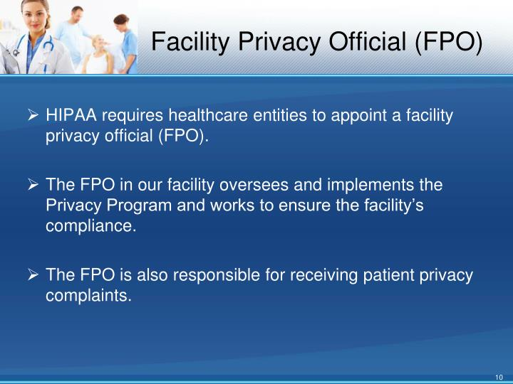 Facility Privacy Official (FPO)