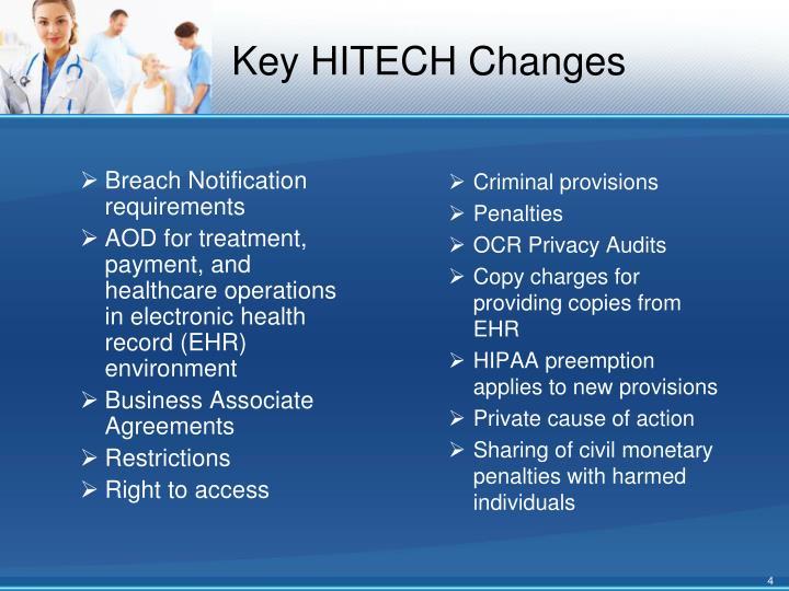 Key HITECH Changes