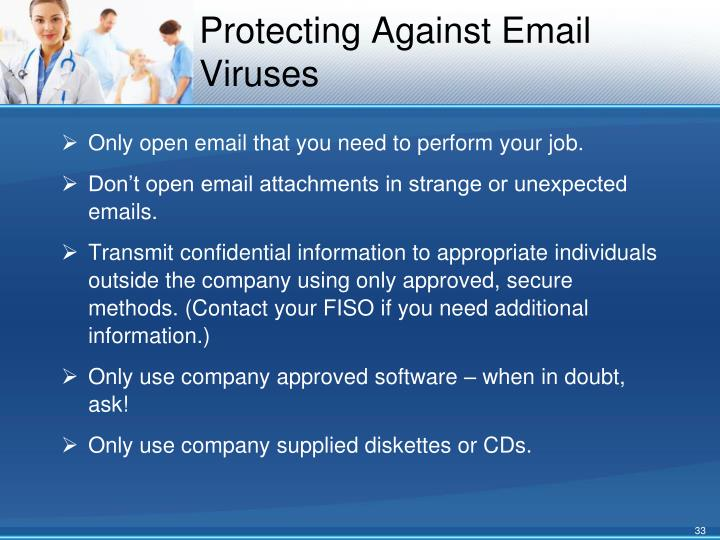 Protecting Against Email Viruses