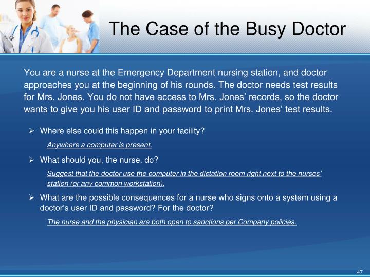 The Case of the Busy Doctor