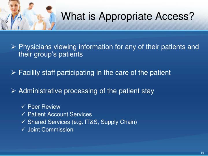 What is Appropriate Access?