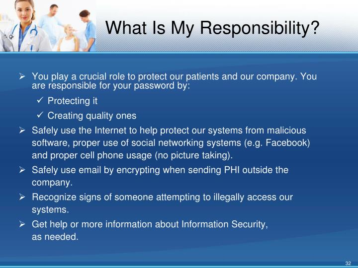 What Is My Responsibility?