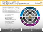 frontrange solutions the right technology and products