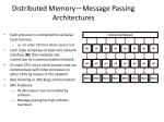 distributed memory message passing architectures