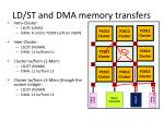 ld st and dma memory transfers