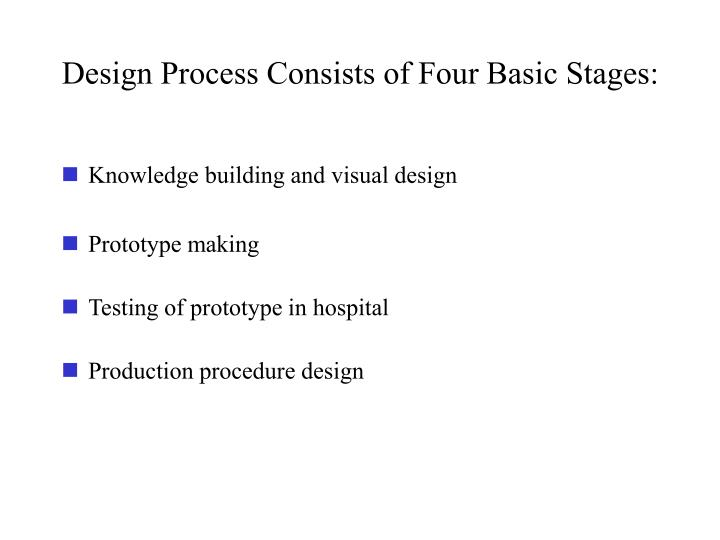 Design Process Consists of Four Basic Stages: