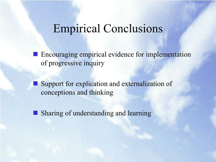 Empirical Conclusions
