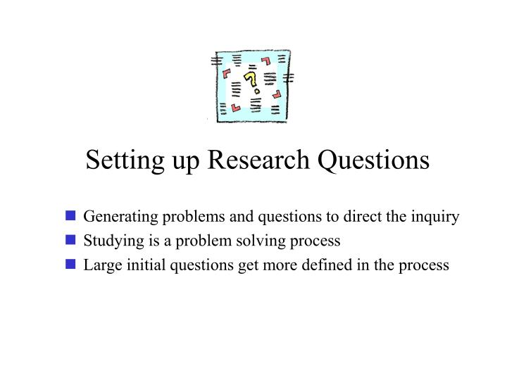 Setting up Research Questions