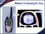 midland 710 showing pl tone
