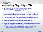 assessing eligibility ffm