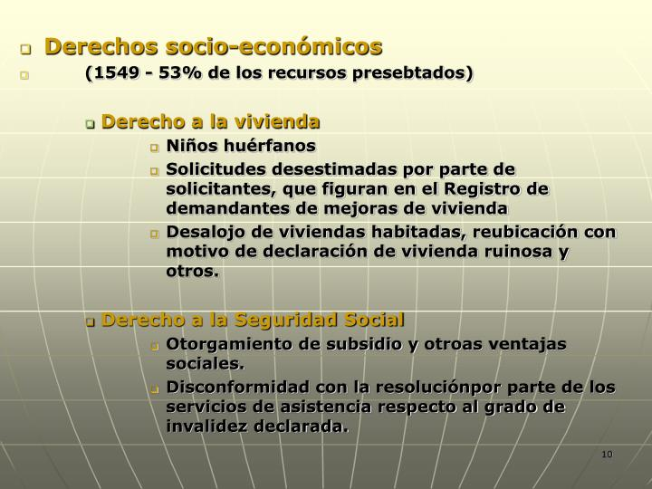 Derechos socio-económicos