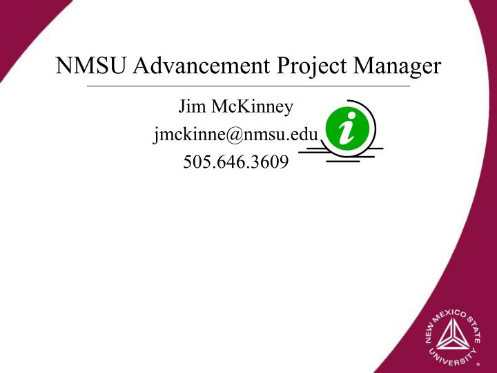 NMSU Advancement Project Manager
