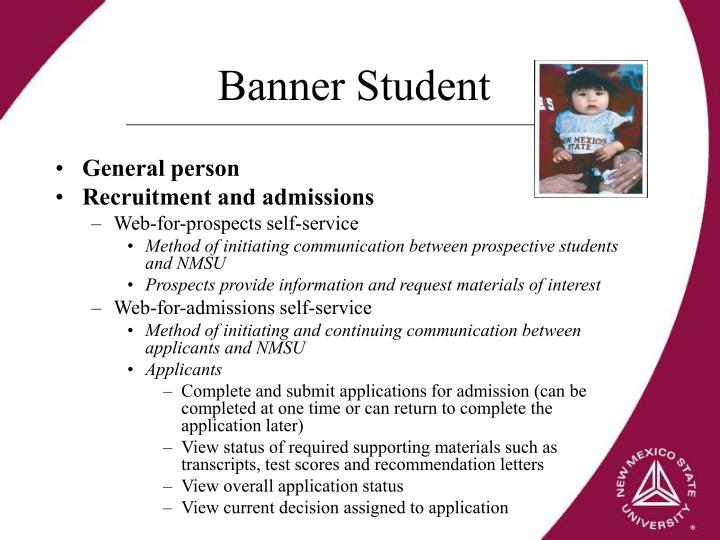 Banner Student