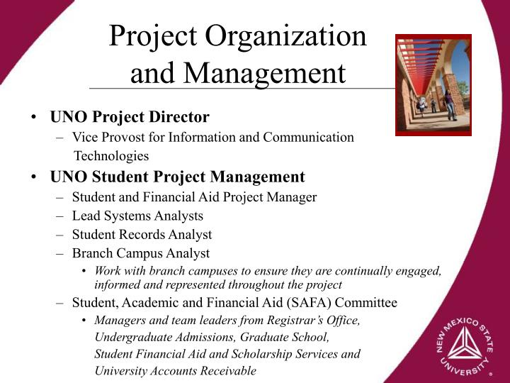 Project Organization and Management