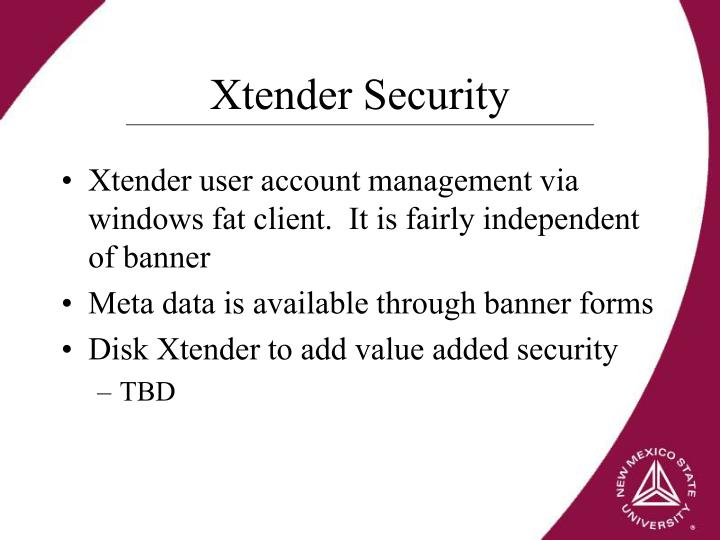Xtender Security