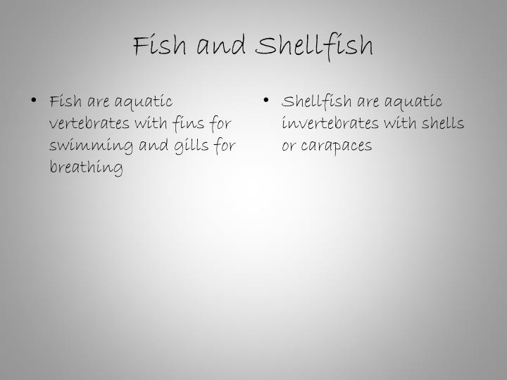 Fish are aquatic vertebrates with fins for swimming and gills for breathing