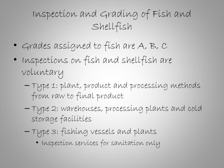 Inspection and Grading of Fish and Shellfish