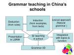 grammar teaching in china s schools